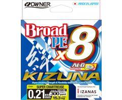 Owner Kizuna X8 PE Chartreuse 275m