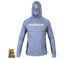 Shimano Hooded Tech Tee Ice Dot Camo